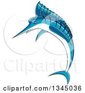 Jumping Cartoon Marlin Swordfish