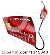Clipart Of A Red Gas Pump Credit Card Royalty Free Vector Illustration by Vector Tradition SM