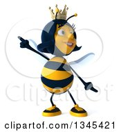 Clipart Of A 3d Happy Queen Bee Dancing Royalty Free Illustration by Julos