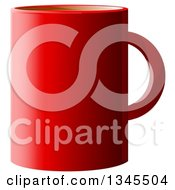 Clipart Of A Red Coffee Cup Over White Royalty Free Illustration