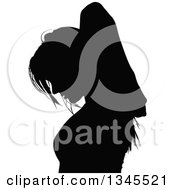 Clipart Of A Black Silhouetted Party Woman Dancing 8 Royalty Free Vector Illustration