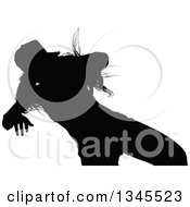 Clipart Of A Black Silhouetted Party Woman Dancing 10 Royalty Free Vector Illustration