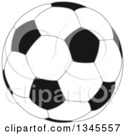 Clipart Of A Black And White Soccer Ball Royalty Free Vector Illustration by Liron Peer