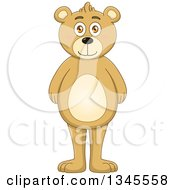 Clipart Of A Cartoon Standing Teddy Bear Royalty Free Vector Illustration