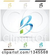 Clipart Of Abstract Letter B Design Elements Royalty Free Vector Illustration by cidepix