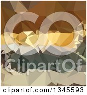 Clipart Of A Low Poly Abstract Geometric Background Of French Beige Royalty Free Vector Illustration