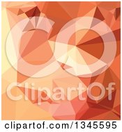 Clipart Of A Low Poly Abstract Geometric Background Of Tango Orange Royalty Free Vector Illustration