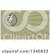 Clipart Of A Cartoon White Male Industrial Janitor Wearing A Biohazard Suit And Vacuuming With A Back Pack And Green Rays Background Or Business Card Design Royalty Free Illustration by patrimonio