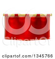 Clipart Of A Medieval Red Banner On A Gold Rod Royalty Free Vector Illustration