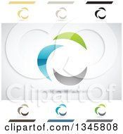 Clipart Of Abstract Letter C Design Elements Royalty Free Vector Illustration by cidepix