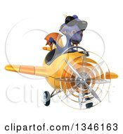 Clipart Of A 3d Purple Dragon Aviator Pilot Wearing Sunglasses Giving A Thumb Down And Flying A Yellow Airplane Royalty Free Illustration by Julos