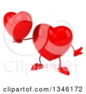 Clipart Of A 3d Heart Character Holding Another Heart Royalty Free Illustration