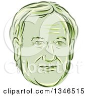 Clipart Of A Retro Styled Face Of Lincoln Chaffee 2016 Presidential Candidate Royalty Free Vector Illustration