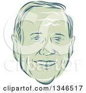 Clipart Of A Retro Styled Face Of Martin OMalley 2016 Presidential Candidate Royalty Free Vector Illustration