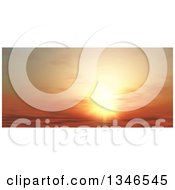 Clipart Of A Beautiful Orange Sunset Sky Royalty Free Illustration