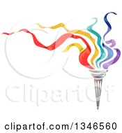 Clipart Of A Torch With Colorful Flames And Text Space Royalty Free Vector Illustration by BNP Design Studio