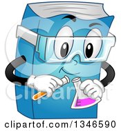 Clipart Of A Cartoon Book Character Conducting A Chemistry Experiment Royalty Free Vector Illustration by BNP Design Studio