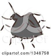 Clipart Of A Sketched Garden Pest Beetle Royalty Free Vector Illustration by BNP Design Studio