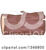 Clipart Of A Wood Log Royalty Free Vector Illustration by BNP Design Studio