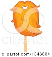 Clipart Of A Ginger Lumberjack Beard On A Stick Royalty Free Vector Illustration by BNP Design Studio