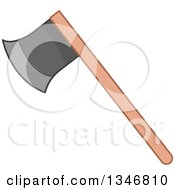 Clipart Of A Fire Fighter Axe Royalty Free Vector Illustration