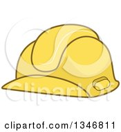 Clipart Of A Yellow Fire Fighter Helmet Royalty Free Vector Illustration