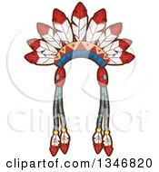 Clipart Of A Native American Indian Headdress Royalty Free Vector Illustration by BNP Design Studio