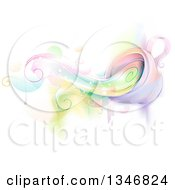 Clipart Of A Whimsical Cup Spilling Colors Royalty Free Vector Illustration by BNP Design Studio
