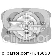 Clipart Of A Secured Bank Vault Royalty Free Vector Illustration