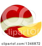 Clipart Of An Edam Cheese Wedge And Ball Royalty Free Vector Illustration by BNP Design Studio