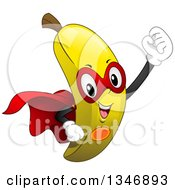 Clipart Of A Cartoon Super Banana Character Royalty Free Vector Illustration by BNP Design Studio