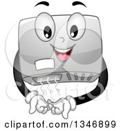 Clipart Of A Cartoon Hand Dryer Character Royalty Free Vector Illustration