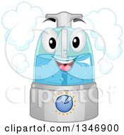 Clipart Of A Cartoon Happy Humidifier Mascot Royalty Free Vector Illustration by BNP Design Studio