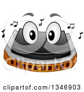Clipart Of A Cartoon Harmonica Mascot Royalty Free Vector Illustration by BNP Design Studio