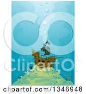 Sunken Pirate Ship And Fish