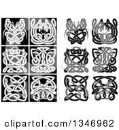 Black And White Celtic Knot Snakes 2
