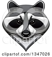 Clipart Of A Tough Raccoon Mascot Face Royalty Free Vector Illustration by Vector Tradition SM