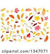 Clipart Of Colorful Autumn Leaves 5 Royalty Free Vector Illustration by Vector Tradition SM