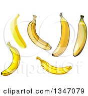 Clipart Of Cartoon Yellow Bananas Royalty Free Vector Illustration by Vector Tradition SM