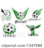 Soccer Athletic Sports Designs With Text