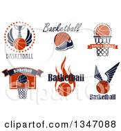 Clipart Of Basketball Athletic Sports Designs With Text Royalty Free Vector Illustration by Vector Tradition SM