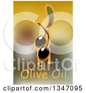 Clipart Of Dripping Olives And Text Over Blur 2 Royalty Free Vector Illustration