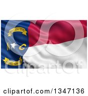 Clipart Of A 3d Rippling State Flag Of North Carolina USA Royalty Free Illustration