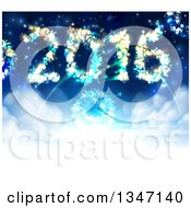 Clipart Of 2016 Shaped New Year Fireworks In The Sky Royalty Free Vector Illustration by AtStockIllustration