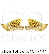 Pair Of 3d Metal Gold Wings