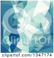 Clipart Of A Turquoise Green Low Poly Abstract Geometric Background Royalty Free Vector Illustration