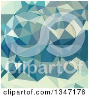 Clipart Of A Skobeloff Green Low Poly Abstract Geometric Background Royalty Free Vector Illustration
