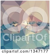 Clipart Of An Opera Mauve Low Poly Abstract Geometric Background Royalty Free Vector Illustration