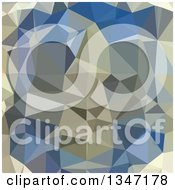 Clipart Of A Cornflower Blue Low Poly Abstract Geometric Background Royalty Free Vector Illustration