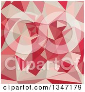 Clipart Of A Cardinal Red Low Poly Abstract Geometric Background Royalty Free Vector Illustration